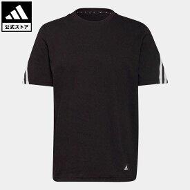 【公式】アディダス adidas 返品可 アディダス スポーツウェア フューチャー アイコンズ スリーストライプ 半袖Tシャツ メンズ ウェア・服 トップス Tシャツ 黒 ブラック GR4094 mss21fw 半袖