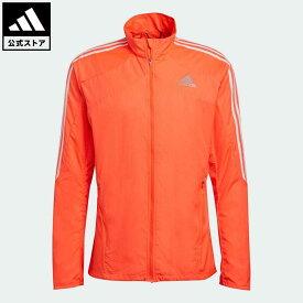 【公式】アディダス adidas 返品可 ランニング マラソン 3ストライプス ジャケット / Marathon 3-Stripes Jacket メンズ ウェア・服 アウター ジャケット 赤 レッド H34546 nm_otd walking_jogging ランニングウェア