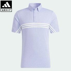 【公式】アディダス adidas 返品可 ゴルフ HEAT.RDY スリーストライプス半袖ボタンダウンシャツ メンズ ウェア・服 トップス ポロシャツ 紫 パープル GT3661
