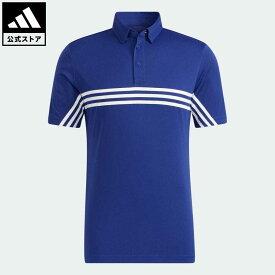 【公式】アディダス adidas 返品可 ゴルフ HEAT.RDY スリーストライプス半袖ボタンダウンシャツ メンズ ウェア・服 トップス ポロシャツ 青 ブルー GT3662