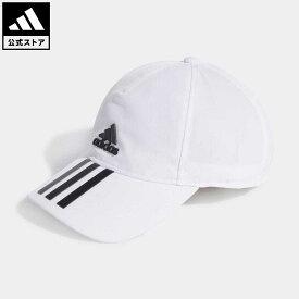 【公式】アディダス adidas 返品可 ジム・トレーニング AEROREADY 3ストライプス ベースボールキャップ / AEROREADY 3-Stripes Baseball Cap レディース メンズ アクセサリー 帽子 キャップ 白 ホワイト GM4511