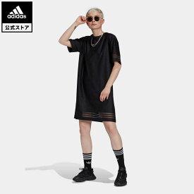 【公式】アディダス adidas 返品可 Tシャツワンピース オリジナルス レディース ウェア・服 オールインワン ワンピース 黒 ブラック GN3249