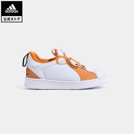 【公式】アディダス adidas 返品可 SS 360 オリジナルス キッズ シューズ・靴 スニーカー スリッポン 白 ホワイト Q46176 ローカット