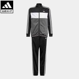 【1000円OFFクーポン対象 10/15 0:00〜10/17 23:59】 【公式】アディダス adidas 返品可 アディダス エッセンシャルズ トラックスーツ(ジャージセットアップ) / adidas Essentials Track Suit キッズ ウェア・服 セットアップ ジャージ 黒 ブラック GN3970 上下
