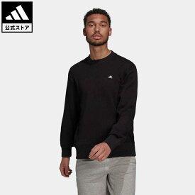 【公式】アディダス adidas 返品可 アディダス スポーツウェア コンフィー&チル スウェットシャツ アスレティクス メンズ ウェア・服 トップス スウェット(トレーナー) 黒 ブラック H45395