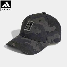 【公式】アディダス adidas 返品可 カモ ベースボールキャップ オリジナルス レディース メンズ アクセサリー 帽子 キャップ グレー H25290