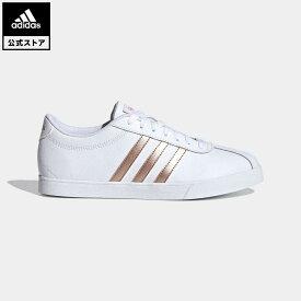 【公式】アディダス adidas 返品可 テニス コートセット / Courtset レディース シューズ・靴 スニーカー 黒 ブラック FW4168 テニスシューズ ローカット