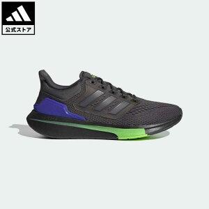 【公式】アディダス adidas 返品可 ランニング EQ21 ラン / EQ21 Run メンズ シューズ・靴 スポーツシューズ グレー H00515 ランニングシューズ