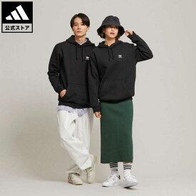 【公式】アディダス adidas 返品可 ESSENTIAL HOODIE オリジナルス メンズ ウェア・服 トップス パーカー(フーディー) スウェット(トレーナー) 黒 ブラック H34652 トレーナー