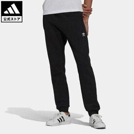 【公式】アディダス adidas 返品可 アディカラー エッセンシャルズ トレフォイルパンツ オリジナルス メンズ ウェア・服 ボトムス ジャージ パンツ 黒 ブラック H34657 下