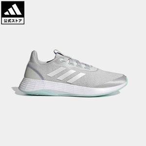 【公式】アディダス adidas 返品可 ランニング QT レーサー スポーツ / QT Racer Sport レディース シューズ・靴 スポーツシューズ グレー Q46322 ランニングシューズ