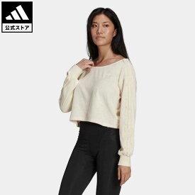 【公式】アディダス adidas 返品可 スウェット オリジナルス レディース ウェア・服 トップス スウェット(トレーナー) 白 ホワイト HG5710