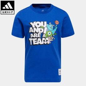 【公式】アディダス adidas 返品可 バスケットボール リトルキッズ You and I Are a Team Tシャツ キッズ ウェア・服 トップス Tシャツ 青 ブルー GR8831 半袖