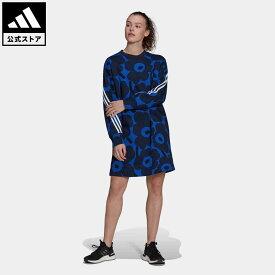 【公式】アディダス adidas 返品可 アディダス スポーツウェア マリメッコ フリースワンピース アスレティクス レディース ウェア・服 オールインワン ワンピース 青 ブルー H24182