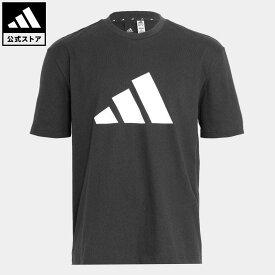 【公式】アディダス adidas 返品可 アディダス スポーツウェア フューチャー アイコンズ ロゴ グラフィック 半袖Tシャツ アスレティクス メンズ ウェア・服 トップス Tシャツ 黒 ブラック H39747 半袖
