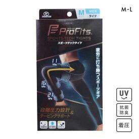 (プロ・フィッツ)ProFits スポーツテックタイツ スポーツレギンス メンズ 着圧 テーピングサポート 段階圧力 ADIEU