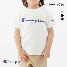 【メール便(15)】 チャンピオン Champion Tシャツ キッズ ジュニア スクリプトロゴ トップス ボーイズ ガールズ 半袖 CK-T302 ADIEU