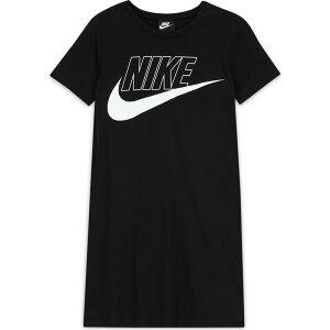 ナイキ ガールズ ワンピース NIKE Tシャツ ビッグロゴ 子供 こども 半袖 CU8375 BLK 送料無料|スポーツウェア トレーニングウェア 女の子 キッズ スポーツ おしゃれ ブランド