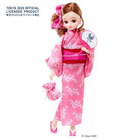タカラトミーリカちゃん 浴衣 (東京2020パラリンピックエンブレム)ピンク