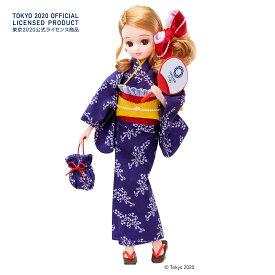 タカラトミーリカちゃん 浴衣 (東京2020オリンピックエンブレム)ネイビー