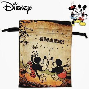 ミッキーマウス&ミニーマウス トラベル巾着 ちゅっ! レディース キッズ Disney Mickey Mouse and Minnie Mouse ディズニー キャラクター グッズ 小物入れ 【RCP】