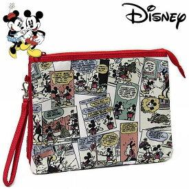 ミッキーマウス&ミニーマウス 3ポケットマルチケース コミック レディース Disney Mickey Mouse and Minnie Mouse ディズニー キャラクター グッズ 手帳入れ 【RCP】