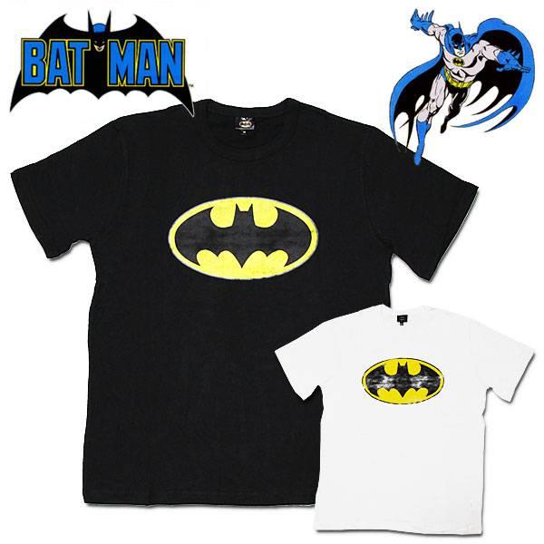 バットマン 半袖Tシャツ カスレプリント メンズ レディース Batman DCコミックス キャラクター ウェア トップス 【RCP】