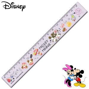 ミッキーマウス&ミニーマウス スリム15cm定規 TINY TASTY レディース キッズ 文房具
