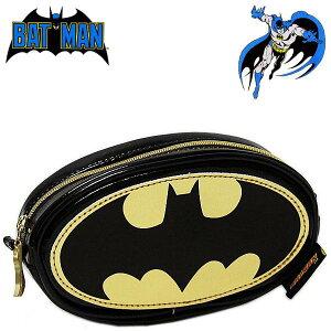 バットマン ラウンドポーチ ロゴ レディース メンズ キッズ 小物入れ