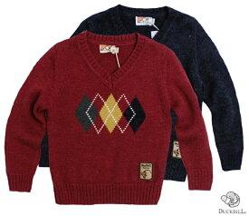 セーター 英国紳士風暖かVネックウール(濠Du)子供服 95cm 120cm 子供 誕生日プレゼント 子ども 子供服 ブランド 上品 アドゥラブル