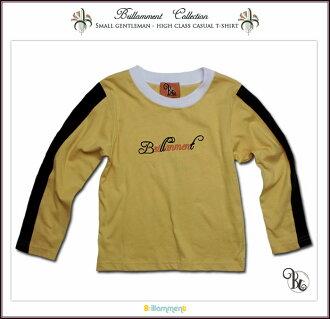 王子运动休闲服饰刺绣长袖 T 恤 (JPBt) 正式意义上的专属孩子的衣服孩子男孩 85 95 厘米 100 厘米 110 厘米