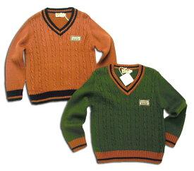 男の子 キッズ セーター ウール 暖かVネック シック お上品かっこいい なわ編み柄(濠Du)グリーン オレンジ 95cm 110cm 120cm 130cm 140cm 150cm 子供 誕生日プレゼント クリスマス 子ども 子供服 ブランド 上品 アドゥラブル