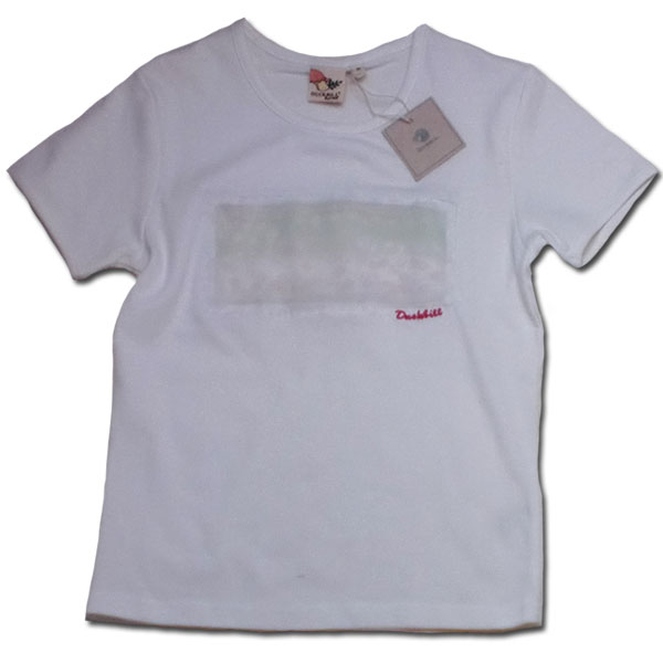 【訳有り】肌触り滑らか刺しゅう入り半袖Tシャツ ホワイト 親子ベアOK♪ レディースM L(濠Du)【ティーン服】【レディース服】子供 誕生日プレゼント 子ども 子供服 ブランド 上品 アドゥラブル