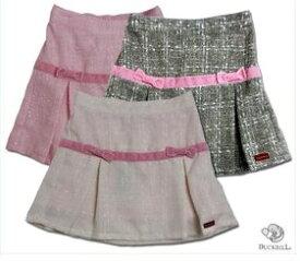 【子供服】イギリスお嬢様スタイル ベロアのラインを一巻きしたプリーツスカート(濠Du)85cm 95cm 100cm 110cm子供 誕生日プレゼント 子ども 子供服 ブランド 上品 アドゥラブル