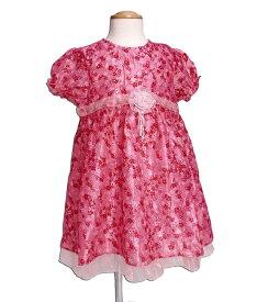 ba773ecb7775f  子供服 ピンクドールキラキラ輝くシフォンの花柄ワンピース 結婚式のフォーマルなシーンもご利用いただけます(濠Du) あす楽対応 近畿  結婚式  発表会 ドレス  ...