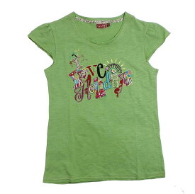 【子供服】愉快な休日 親子ペアOK♪刺しゅう入り短袖Tシャツ(濠Me)女の子 キッズ ティーン 125cm 130cm 140cm 150cm 160cm 170cm子供 誕生日プレゼント 子ども 子供服 ブランド 上品 アドゥラブル