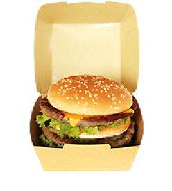 ハンバーガー用テイクアウト紙容器・紙箱 EC8 ファイン 600ヶ入【あす楽対応】【HLS_DU】