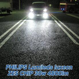 led フォグランプ 2個セット H7 フィリップス 30w 4800LM ホワイト 6500k 在庫処分 LEDバルブ LEDフォグライト