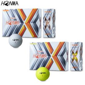 HONMA GOLFTW-X ゴルフボール(2019年モデル) 1ダース(12個入り)【BT-1908】本間ゴルフ ホンマゴルフ