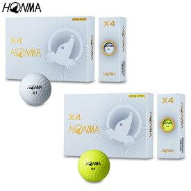 HONMA GOLFX4 ゴルフボール(2019年モデル) 1ダース(12個入り)【BT-1906】本間ゴルフ ホンマゴルフ