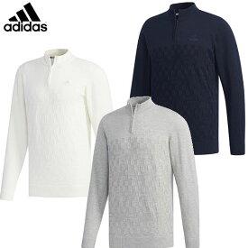 【一部即納OK!!】adidas -アディダス- ジャガードパターン 長袖ジップアップセーター 【FYO85】