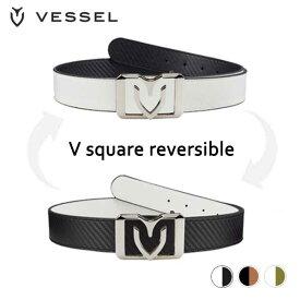 朝日ゴルフ VESSEL ベルト V square reversible 【ベゼル】
