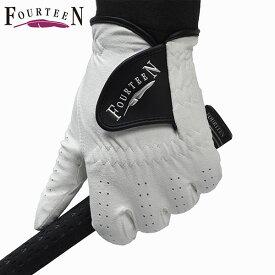 FOURTEEN -フォーティーン- 人工皮革グローブ 左手用ホワイト 21〜26cm【GL0202】