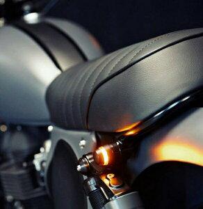 白色LEDデイライト付き ハンドルバーエンドウインカー COBチップオンボード バイクオートバイ汎用パーツ 12V LED省電力【期間限定特価】【クーポン】カフェレーサー・スカチューン