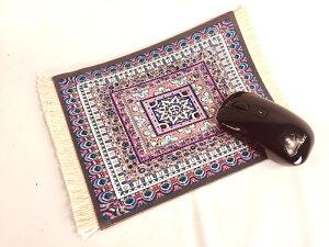 マウスパッド 北欧 ペルシャ絨毯柄【紫&ピンク】おしゃれ 綺麗 繊細な柄 タペストリーや花瓶置物の敷物にも