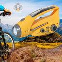 進化版!防災ラジオ iPhone・アイフォン・スマホ充電!多機能 手回し 発電 ソーラー 防災グッズ ラジオライト LEDライ…