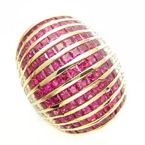 【ご注文後5%OFF】ルビー リング ルビー 9.10ct(Total) ダイヤモンド 1.70ct(Total) - 18金 9ct 9カラット K18 イエローゴールド 指輪 ルビーリング ルビー 指輪 ダイヤモンド ruby ring ゴージャス 豪華 色