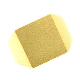 【ご注文後10%OFF】メンズリング 印台(正角) - K18 18金 イエローゴールド 指輪 メンズ mens 男性 リング ring mensring