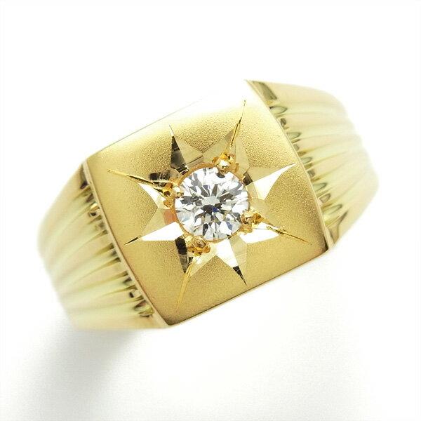 【ご注文確認後5%OFF】ダイヤモンド 印台 メンズリング 0.20〜0.50ct VS1〜SI2-G〜M-VERY GOOD〜GOOD K18 K18 18金 ゴールド イエローゴールド 指輪 ダイヤモンド ダイア ダイアモンド ダイヤ ダイヤモンドリング リング ring diamond 印台 無地