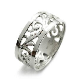 【ご注文後10%OFF】7mm幅 フルエタニティ 透かし 平打ち リング - Pt 地金指輪 プラチナ指輪 エタニティリング エタニティーリング 結婚指輪 透かし すかし 幅広 唐草模様 からくさ
